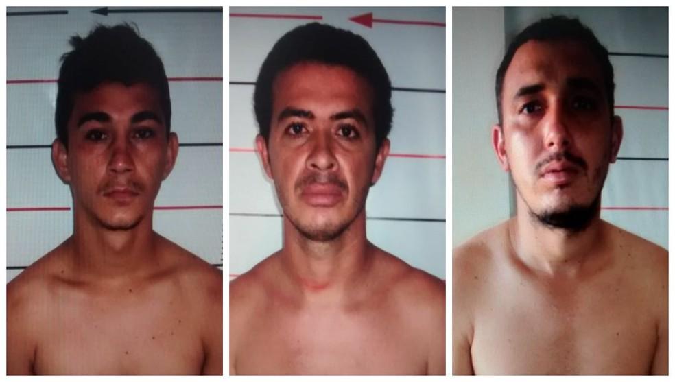 Leandro Martins (Esq.), Milton Bento e Geovane Ferreira — Foto: Divulgação