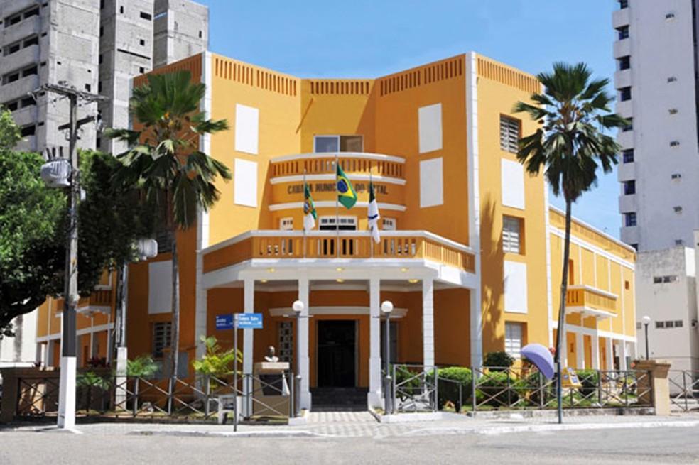 Sede da Câmara Municipal de Natal, em Petrópolis, Zona Leste da capital potiguar — Foto: Canindé Soares