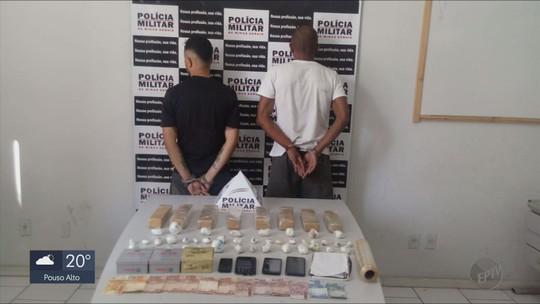 Três pessoas são presas por suspeita de tráfico de drogas em Itajubá, MG