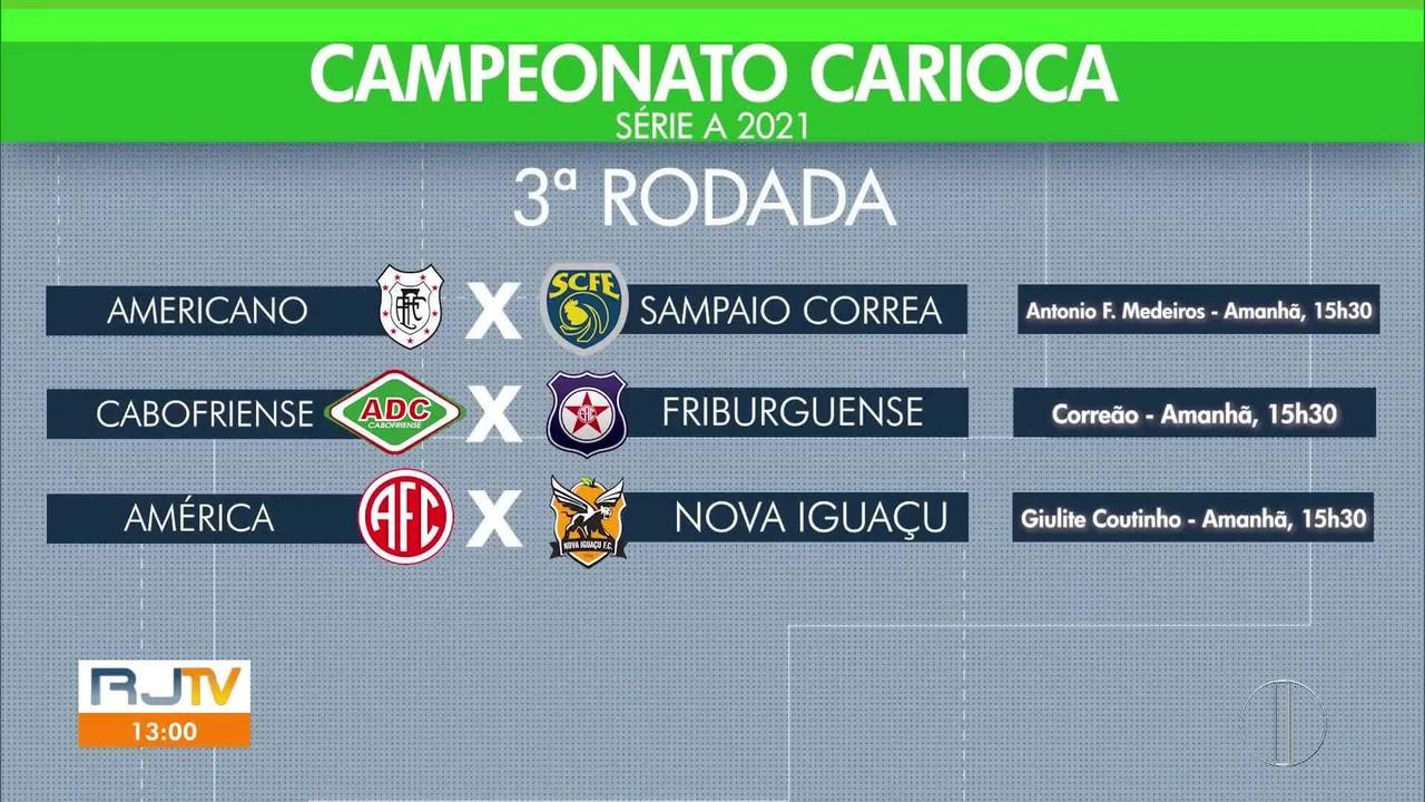 Três clubes do interior disputam pela seletiva do Carioca neste sábado