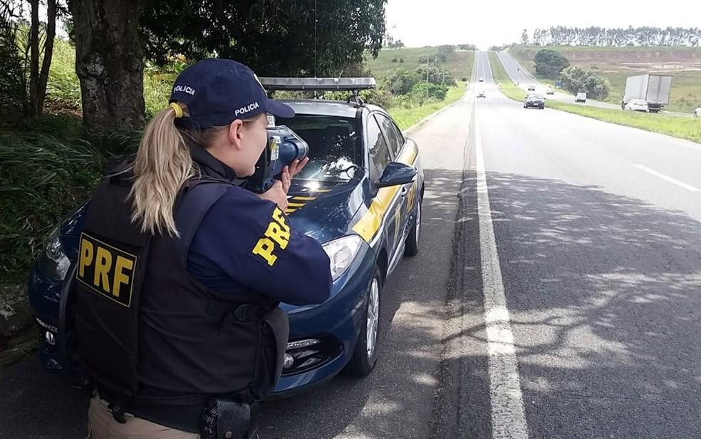 Fiscalização da Polícia Rodoviária Federal (PRF) com radares móveis deixa de acontecer nesta quinta-feira (15) na Paraíba — Foto: Keyla Melo/Ascom PRF