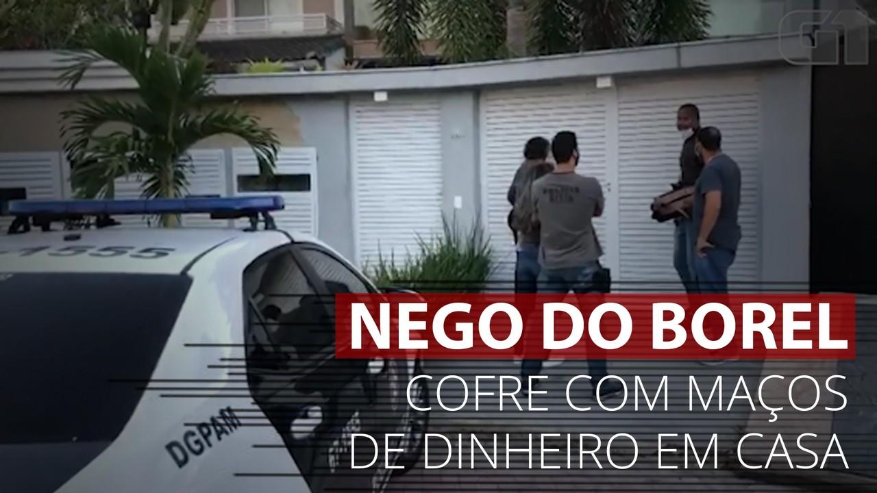 VÍDEO: Polícia encontra cofre com 'bolos' de dinheiro em apartamento de Nego do Borel