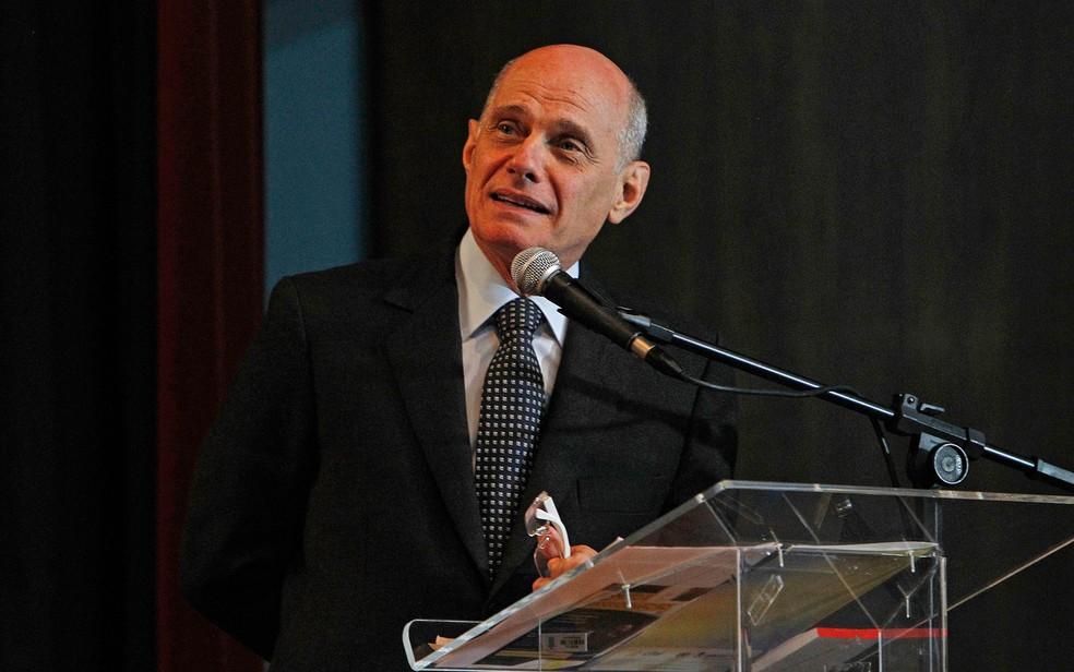 O jornalista Ricardo Boechat em imagem de 2013 em Curitiba, no PR — Foto: Rodolfo Buhrer/Fotoarena/Estadão Conteúdo