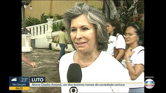 Corpo de Gisella Amaral é velado em igreja na Zona Sul do Rio