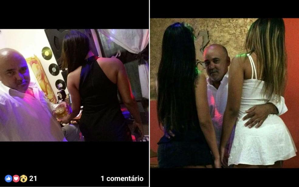 Homem postava fotos com garotas de programa para atrair público (Foto: Divulgação/Polícia Civil)