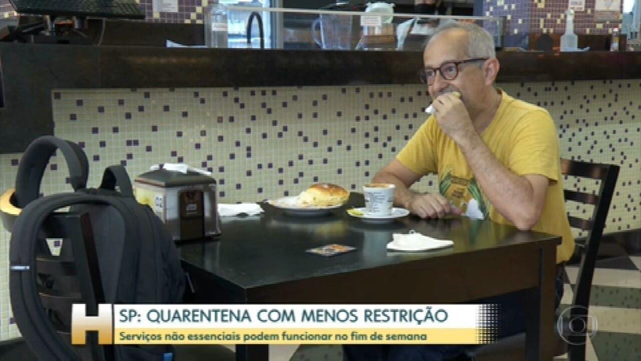 Fim de semana com menos restrições em São Paulo