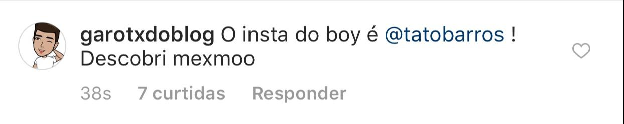 Segundo o @garotxdoblog, o nome do rapaz é Otavio Barros (Foto: reprodução/Instagram)