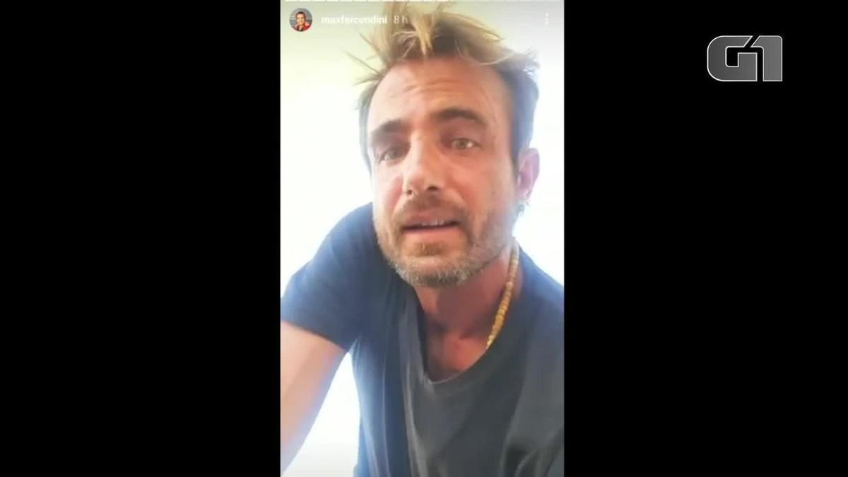 Ator Max Fercondini relata susto em decolagem em aeroporto de Campos, RJ: 'o freio parou de funcionar'