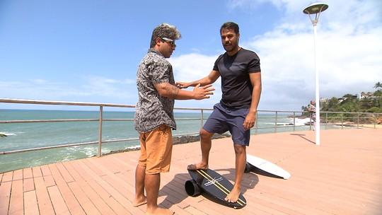 Pablo Vasconcelos é desafiado, se equilibra em prancha e faz pose de pilates