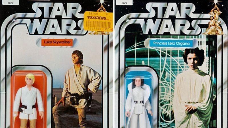 Bonequinhos de Luke Skywalker e da Princesa Leia que serão colocados à venda em leilão de brinquedos raros da saga Star Wars (Foto: Reprodução/Heritage Auctions)