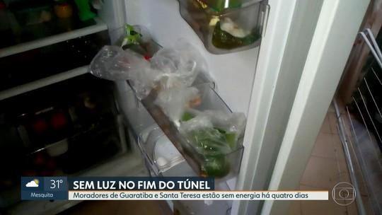 Moradores de Guaratiba e Santa Teresa estão sem energia elétrica há quatro dias