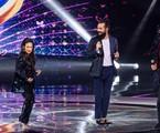 Taís Araujo, Simone, Eduardo Sterblitch e Rodrigo Lombardi no 'The masked singer Brasil' | TV Globo/Kelly Fuzaro