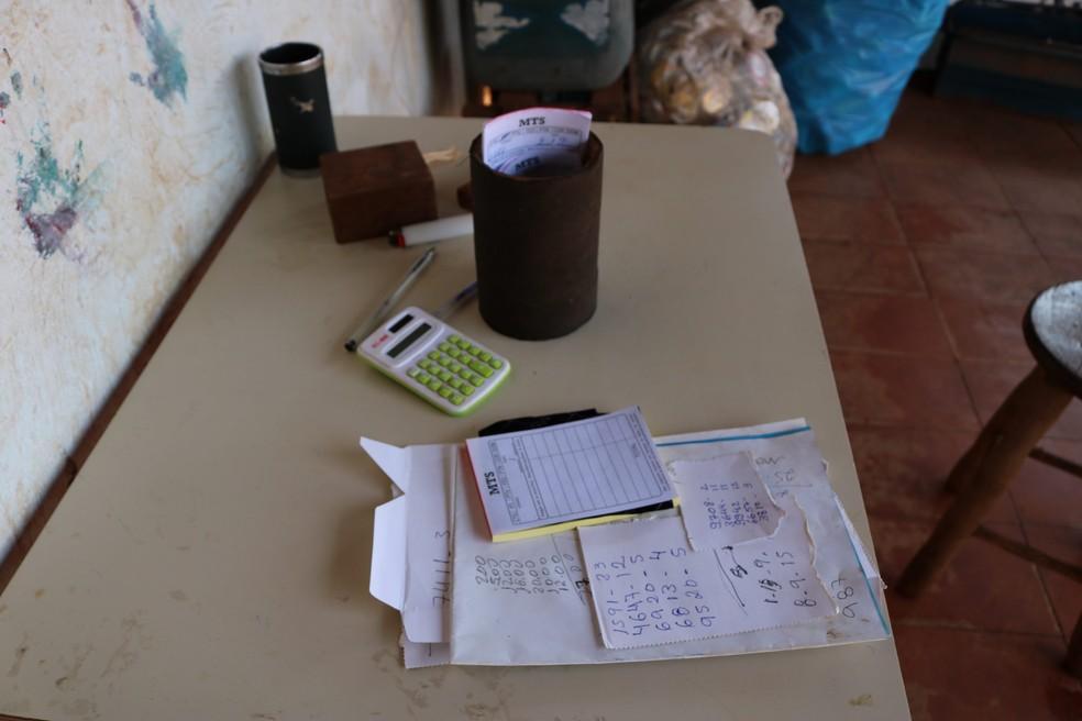 Um dos locais da operação contra o jogo do bicho, em Campo Grande (MS) — Foto: Polícia Civil/Divulgação