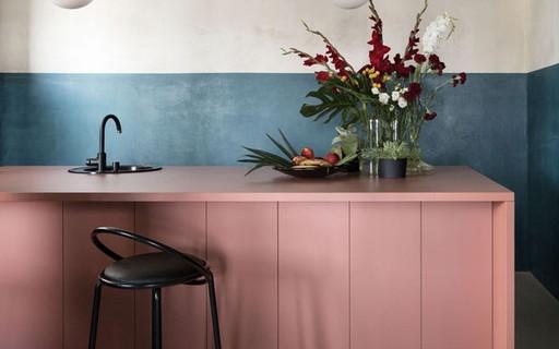 Décor do dia: cozinha minimalista e colorida
