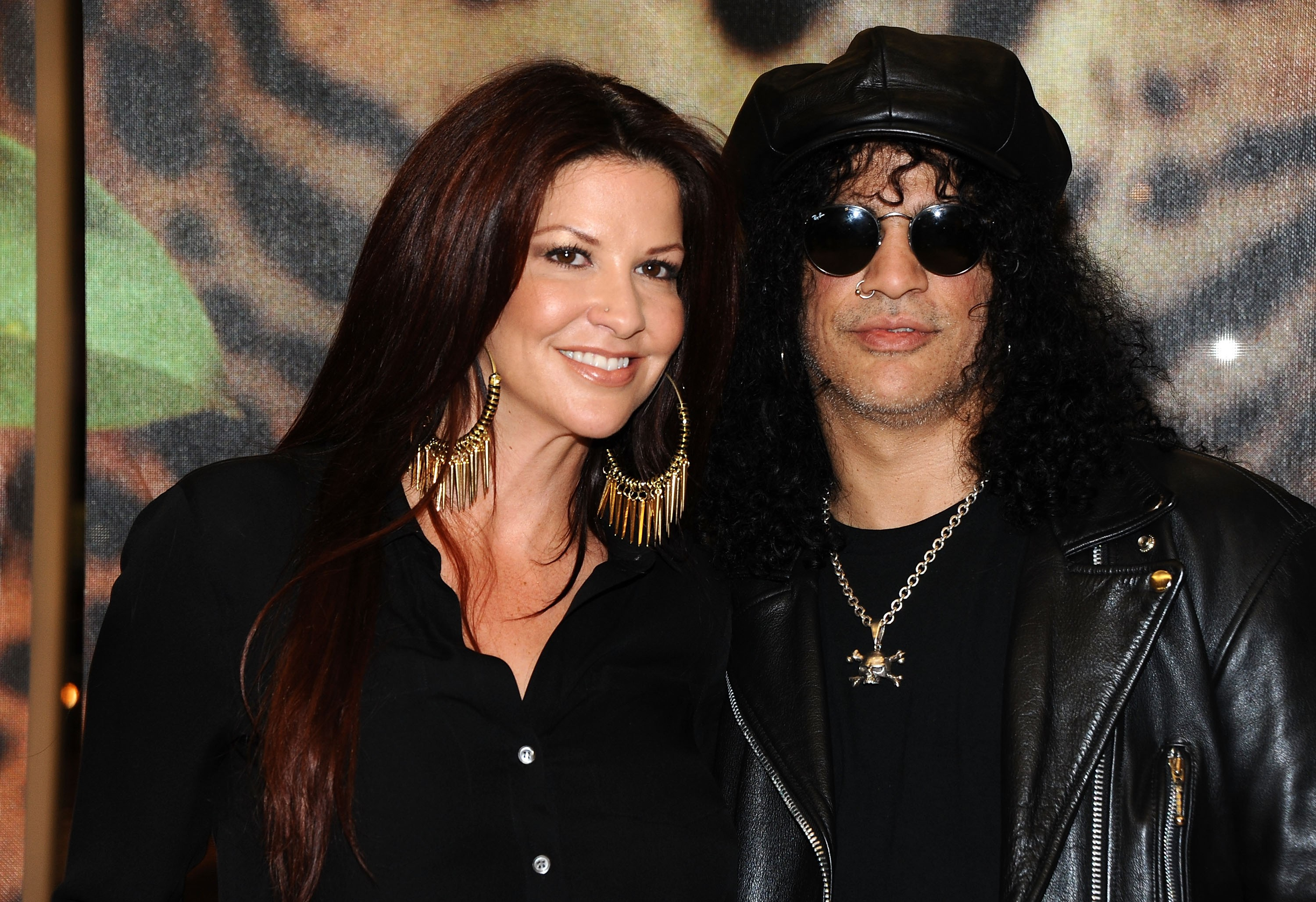 O guitarrista Slash e sua ex-esposa (Foto: Getty Images)