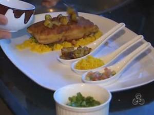 Chef ensina o preparo do Pirarucu de Casaca (Foto: Reprodução/TV Amapá)