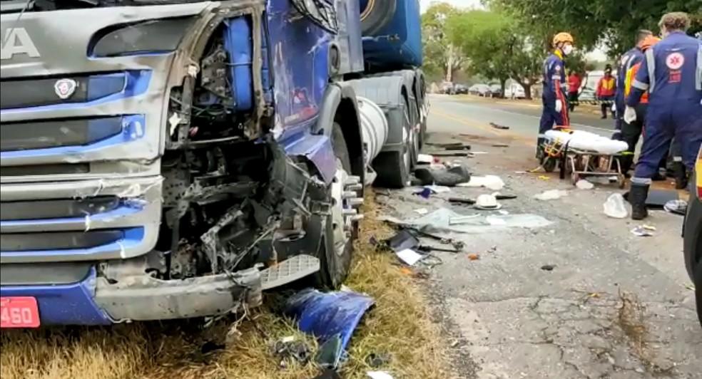 Motorista foi encaminhado em estado grave ao Hospital Estadual de Sumaré (SP) — Foto: Wagner Souza/Arquivo Pessoal