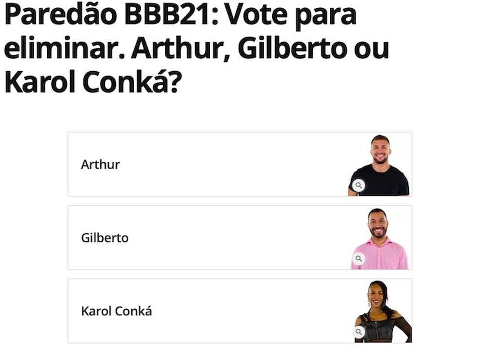 BBB 2021: votação decide quem será o eliminado da semana — Foto: Reprodução/Helito Beggiora