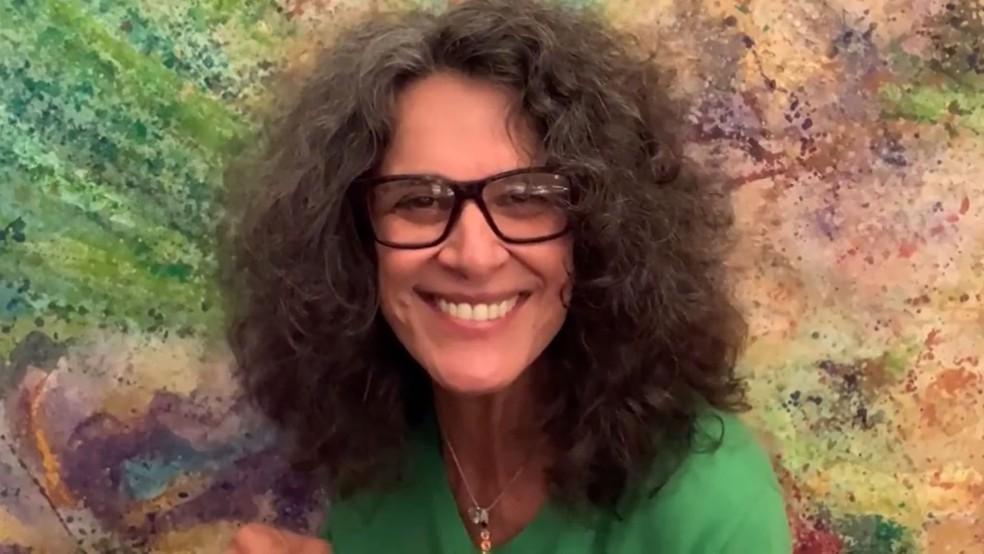 Simone conversa com Cissa Guimarães sobre quarentena — Foto: TV Globo