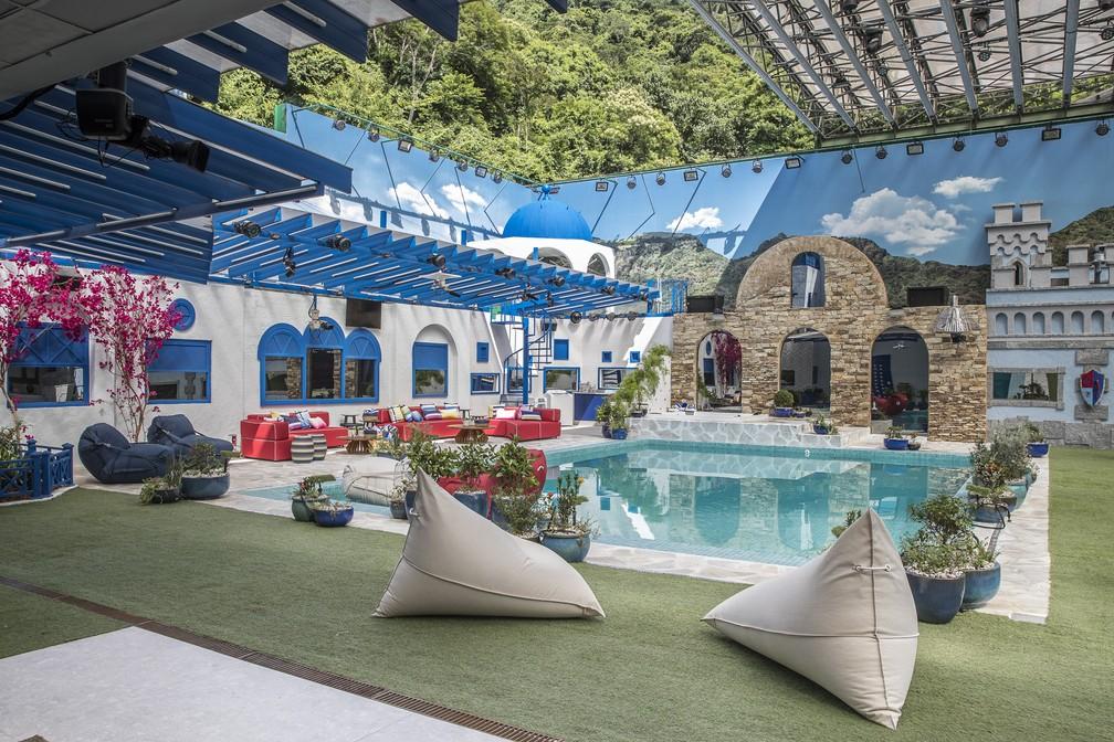 Veja como ficou a piscina na casa do 'BBB21' — Foto: Fábio Rocha/Globo