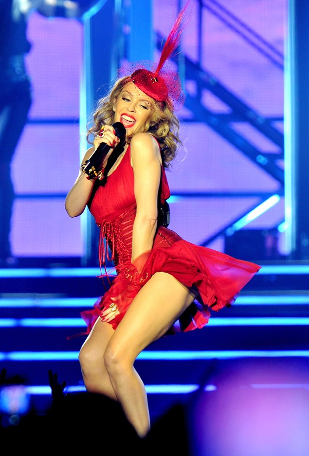 LIVERPOOL, ENGLAND - SEPTEMBER 24:  Kylie Minogue performs at Echo Arena on September 24, 2014 in Liverpool, England.  (Photo by Shirlaine Forrest/Getty Images) (Foto: Getty Images)