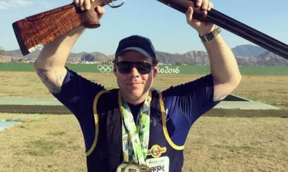Fernando Meneghel Silveira Mello era atleta de tiro esportivo — Foto: Reprodução/EPTV