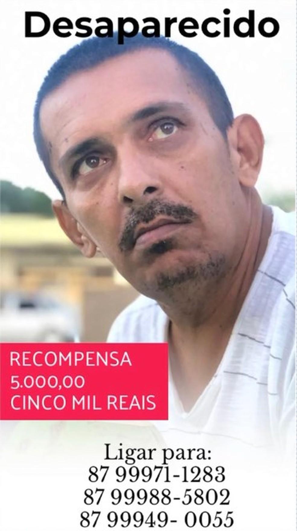 Homem desaparecido em Cabrobó — Foto: Arquivo da família
