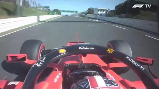 Leclerc segurou espelho com a mão direita enquanto guiava carro com a esquerda; veja vídeo!
