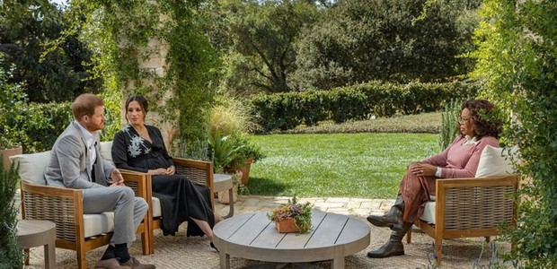 Harry e Meghan dão entrevista à Oprah Winfrey (Foto: Reprodução/Instagram)