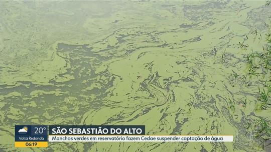 Reservatório de água de São Sebastião do Alto, na Região Serrana, é interditado