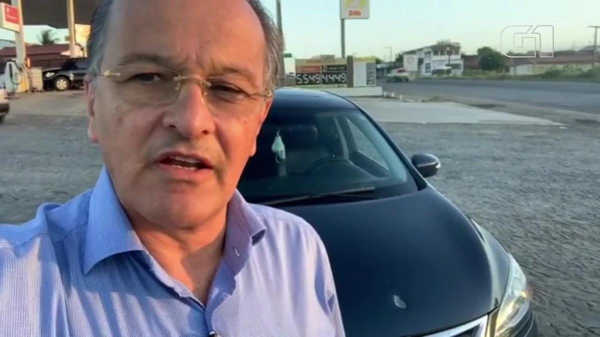 Vice-prefeito de Juazeiro do Norte, no CE, tem carro atingido por tiro na BR-116, na Grande Fortaleza