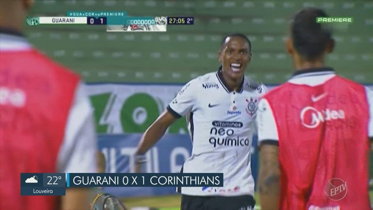 Guarani retoma o Campeonato Paulista com derrota para o Corinthians em casa