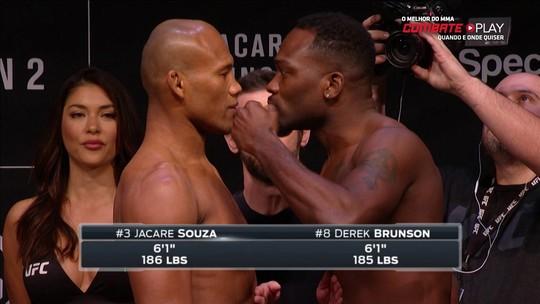 """Brunson provoca Jacaré na encarada, e brasileiro responde: """"Vou destruí-lo"""""""