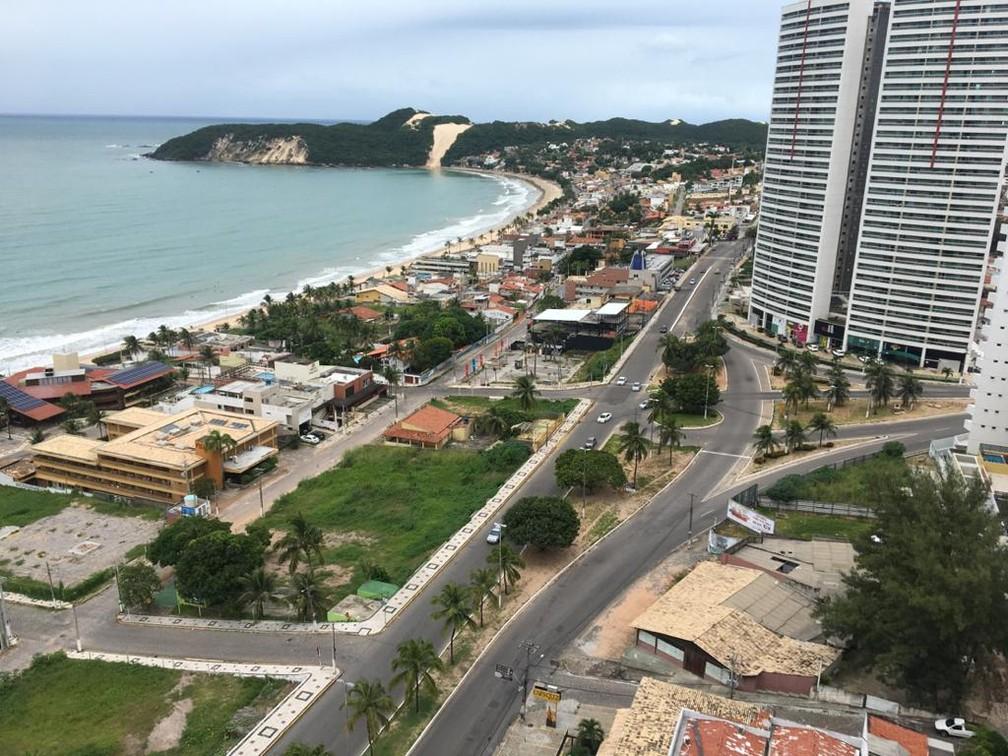 Área não edificante de Ponta Negra está entre pontos do novo Plano Diretor — Foto: Rafael Barbosa/G1