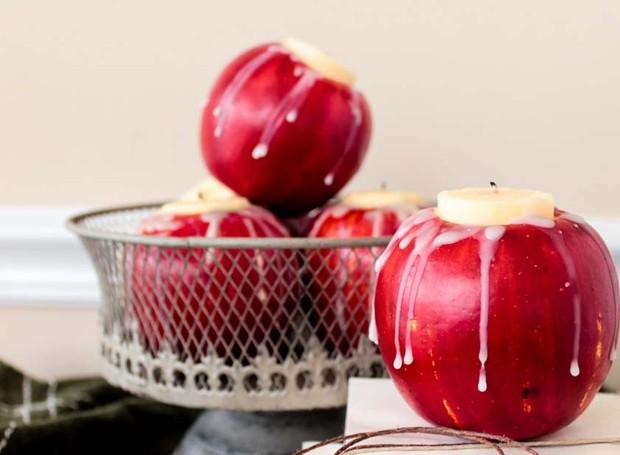 Vela na maçã (Foto: Kindesign/Reprodução)