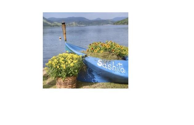 Barco no casamento de Sasha e João (Foto: Reprodução)