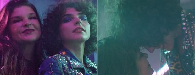 Cristiana Oliveira e Julia Konrad no clipe de Dani Vellocet (Foto: Reprodução)