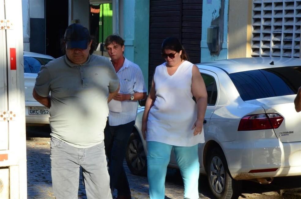 Carla Ubarana e George Leal foram presos na tarde desta segunda (22) em Natal (Foto: Ana Silva/Tribuna do Norte)