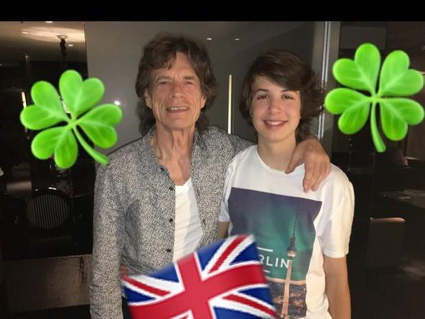 Mick Jagger e Lucas Jagger (Foto: Reprodução/Instagram)