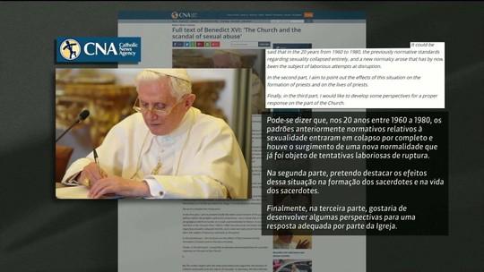 Bento XVI culpa revoluções dos anos 1960 por abusos sexuais