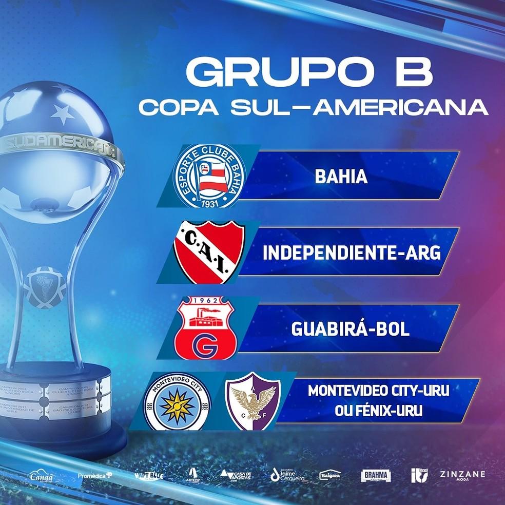 Grupo do Bahia na Copa Sul-Americana — Foto: EC Bahia / Divulgação