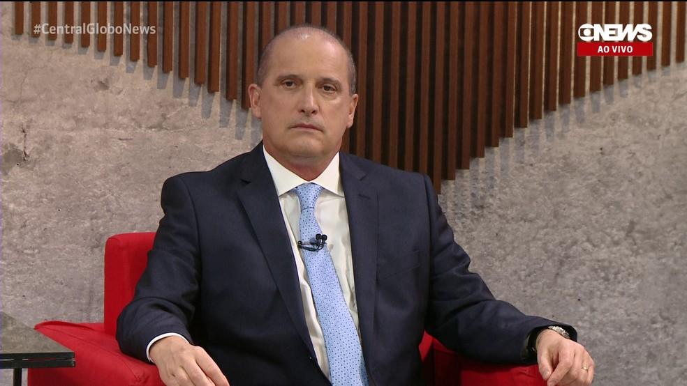 O ministro da Casa Civil, Onyx Lorenzoni, em entrevista para a GloboNews — Foto: Reprodução/GloboNews