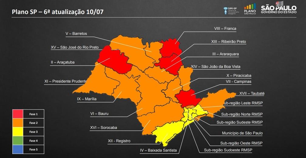 Plano SP de retomada da economia - fase 6 — Foto: Governo do Estado de São Paulo