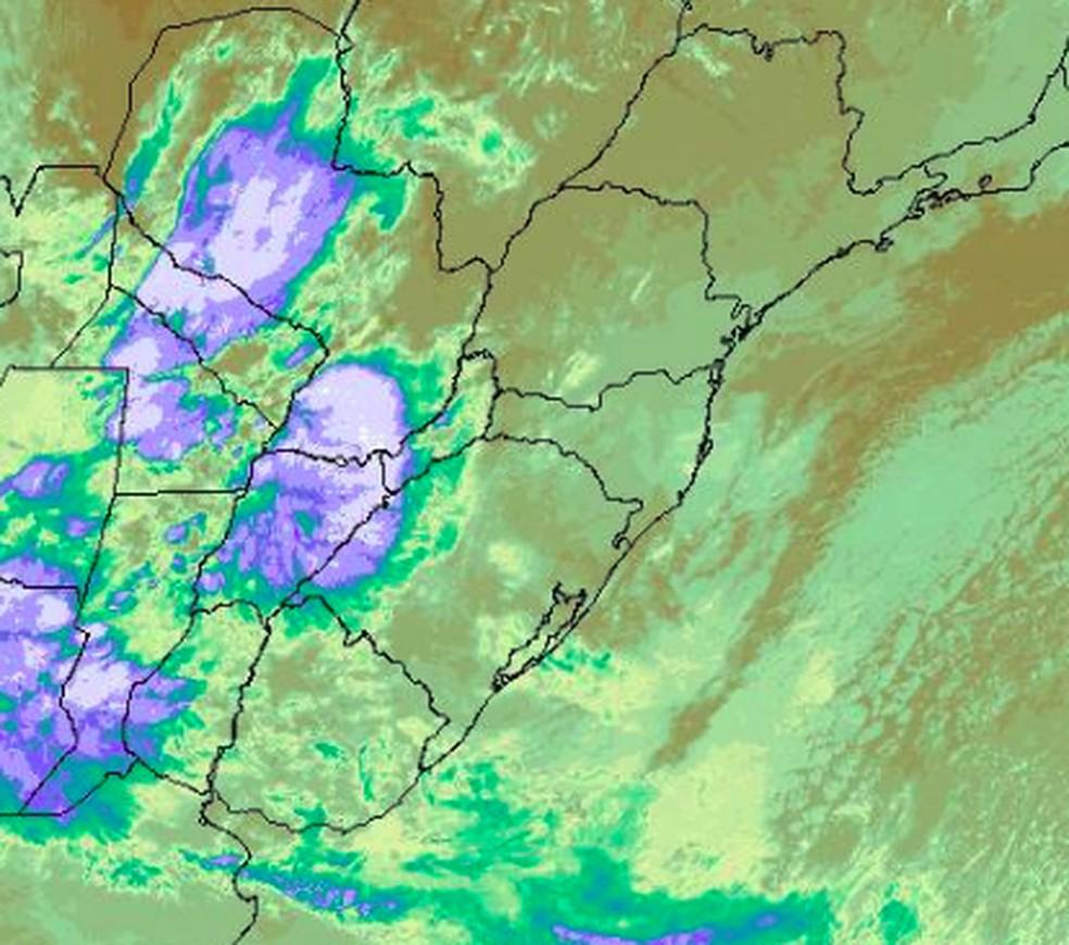 Instabilidade no Rio Grande do Sul — Foto: Somar Meteorologia