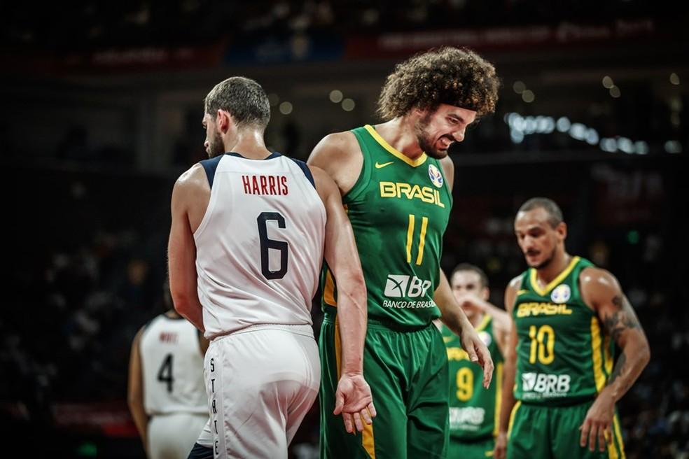 Brasil x EUA pela Copa do Mundo de basquete — Foto: Divulgação Fiba