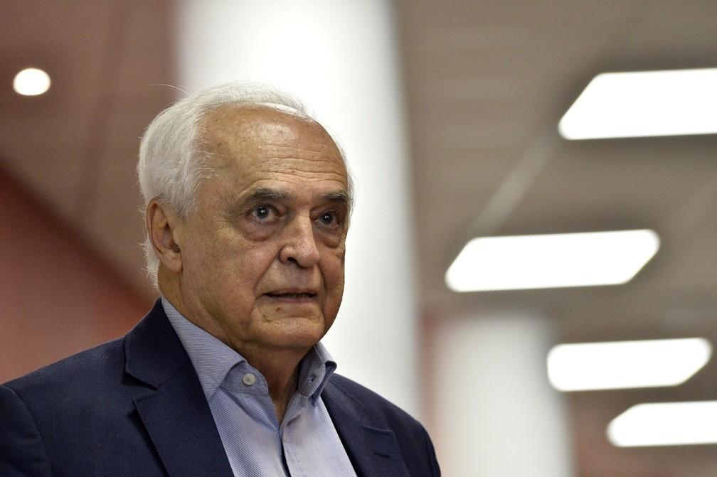 Presidente Leco, do São Paulo, foi criticado por não ter voltado para reunião do Conselho — Foto: Marcos Ribolli