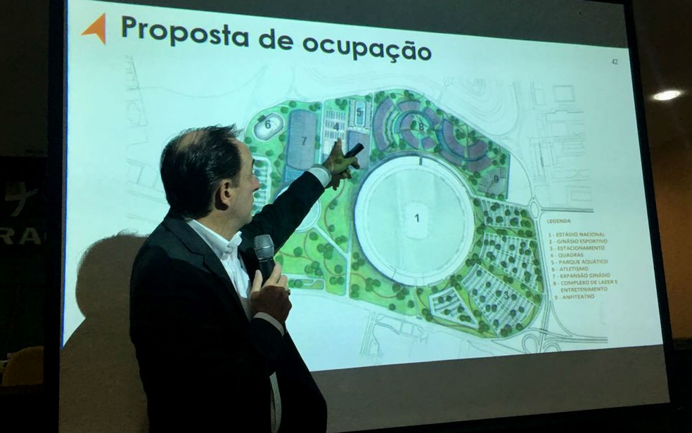 Representante do setor privado mostra projeto de gestão do complexo