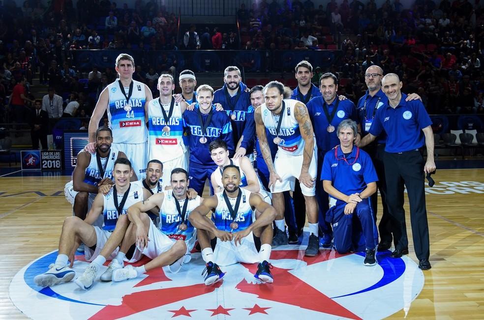Regatas Corrientes garantiu a medalha de bronze da competição (Foto: FIBA Americas)