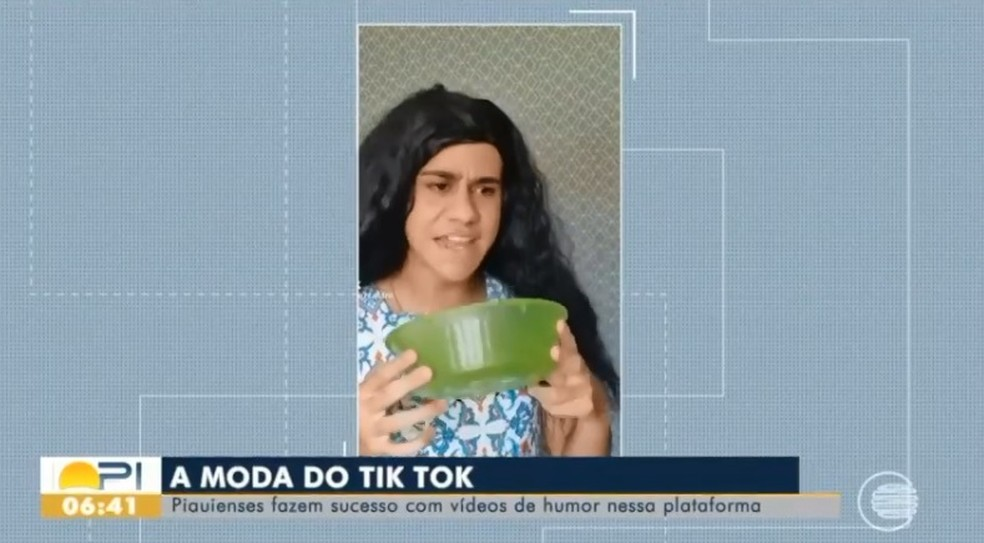Leuriscléia é a personagem interpretada por Gutierrez — Foto: Reprodução /TV Clube