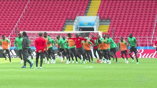 Para enfrentar Polônia, Senegal tem treino físico com música e coreografia